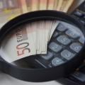 Geld Lupe Taschenrechner