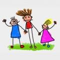 Kinder Zeichnung gemalt naiv