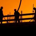 Bauarbeiter Silhouette