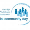 Social Community Day Logo für Titelbild