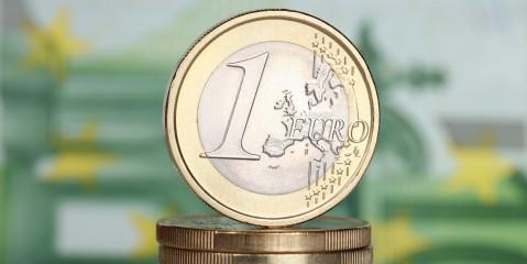 Geld Euro Münzen 1-Euro-Stück