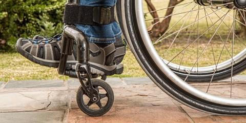 Rollstuhl Weg Füße