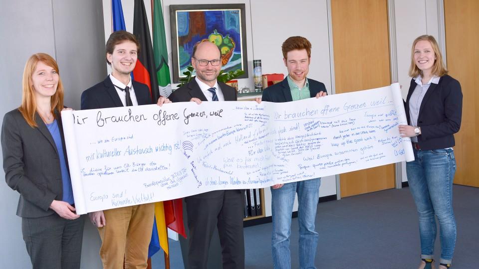 Europaminister Lersch-Mense trifft Junge Europäische Föderalisten