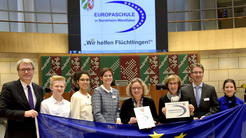 Auszeichnung acht neuer Europaschulen