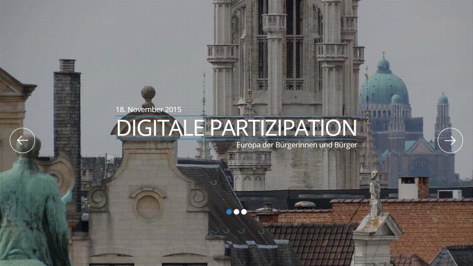 Digitale Partizipation 18.11.2015