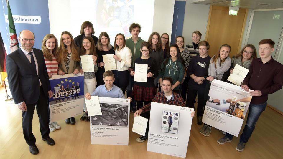 EuroVisions 2015 Gewinner Gruppenfoto