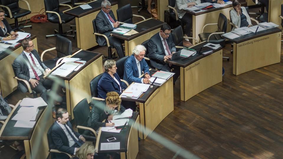 Bundesrat, Plenum, NRW-Länderbank, Draufsicht