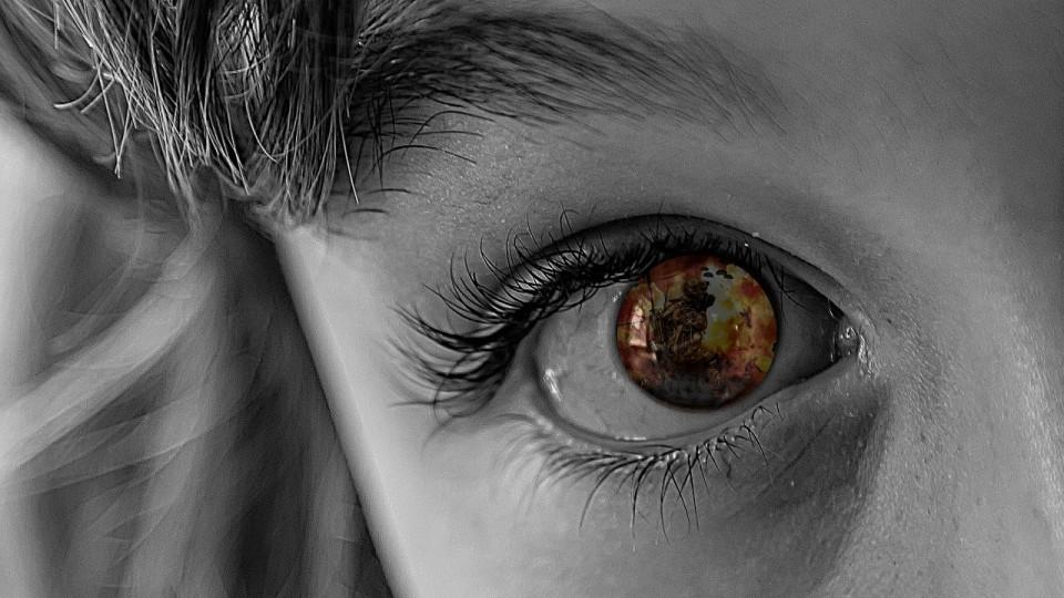 Auge eines Kindes
