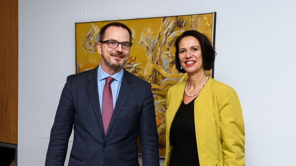 Empfang der Botschafterin der Schweizerischen Eidgenossenschaft,