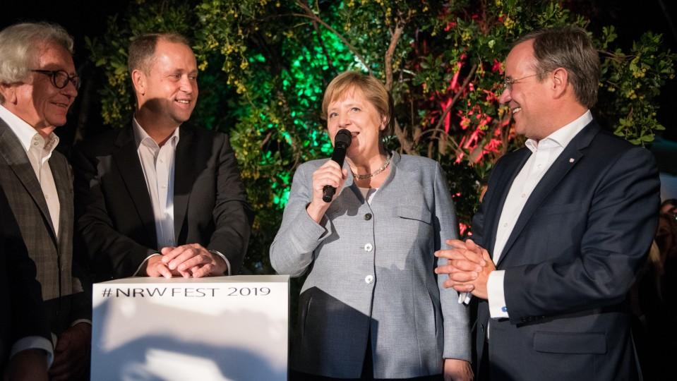Holthoff-Pförtner Stamp Merkel Laschet NRW Fest 2019