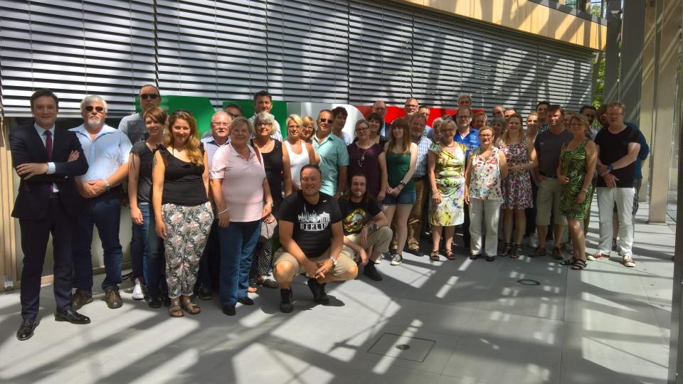 22.06.2017 Besuchergruppe des Abgeordneten Arno Klare MdB